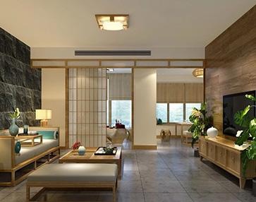 武汉联投龙湾150㎡超大四居装修设计,日式&北欧&现代简约的混搭风。