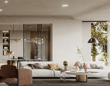 成都绿地圣罗兰装修效果图案例-别墅设计